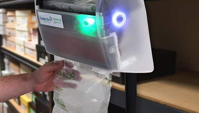 A Sealed Air bubble packaging machine