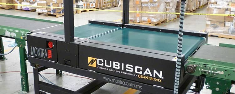 a CubiScan weighing system